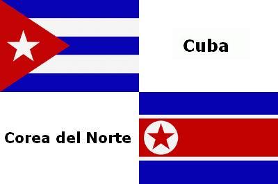 Corea Norte Cuba Bandera El Festival Bajo De
