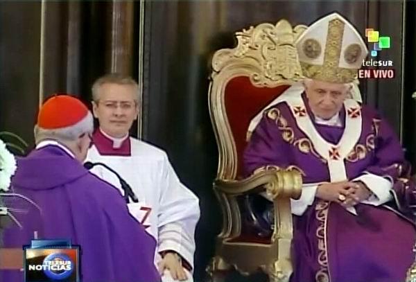 Benedicto XVI en Santa Misa de La Habana. Foto Radio Rebelde/Telesur