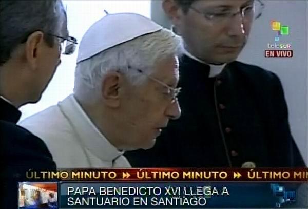 El Papa Benedicto XVI visita Santuario de la Virgen de la Caridad del Cobre.  27 de marzo de 2012. Foto: TeleSUR / Radio Rebelde