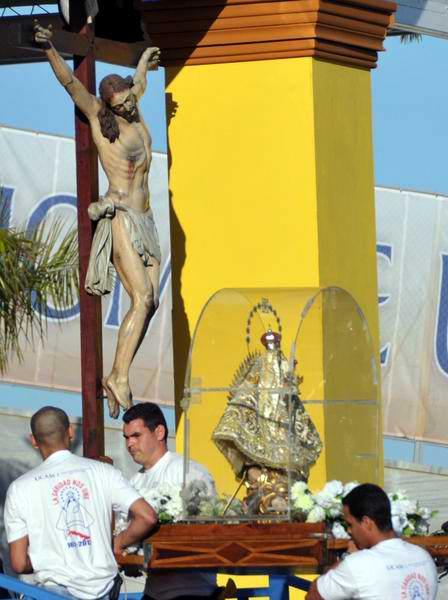 Virgen de la Caridad del Cobre en la Plaza de la Revolución José Martí, en La Habana, Cuba, para la Santa Misa que oficiada por el Papa Benedicto XVI, el 28 de marzo de 2012. Foto: Marcelino Vázquez Hernández
