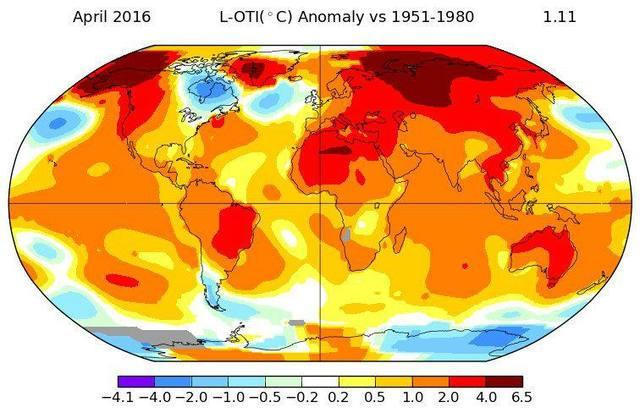 Aumento de temperatura en el planeta