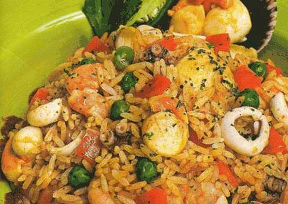 La receta de hoy arroz con pescado - Arroz con pescado y verduras ...