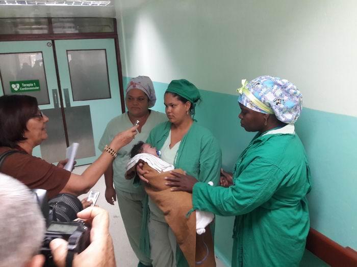 Néstor Enrique Delgado, de 3 meses de nacido, recibió una operación de urgencia, a corazón abierto, que salvó su vida en el Cardiocentro Pediátrico William Soler