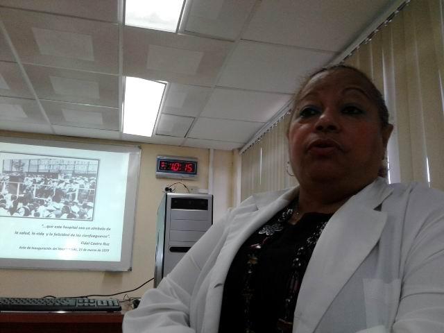 Doctora Octavina Rodríguez, directora de la institución