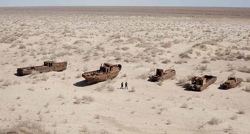 El mar de Aral desaparece poco a poco