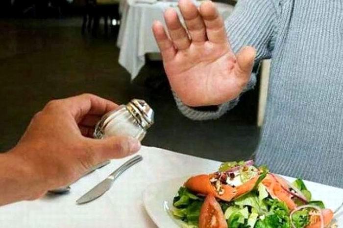 No consumo de sal