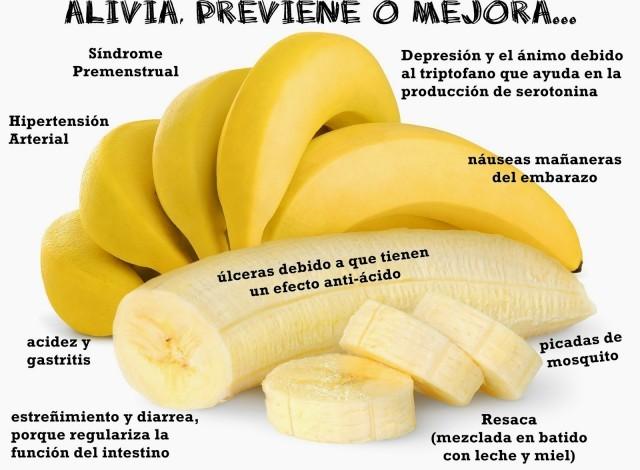 El plátano, excelente remedio contra la depresión y otros males