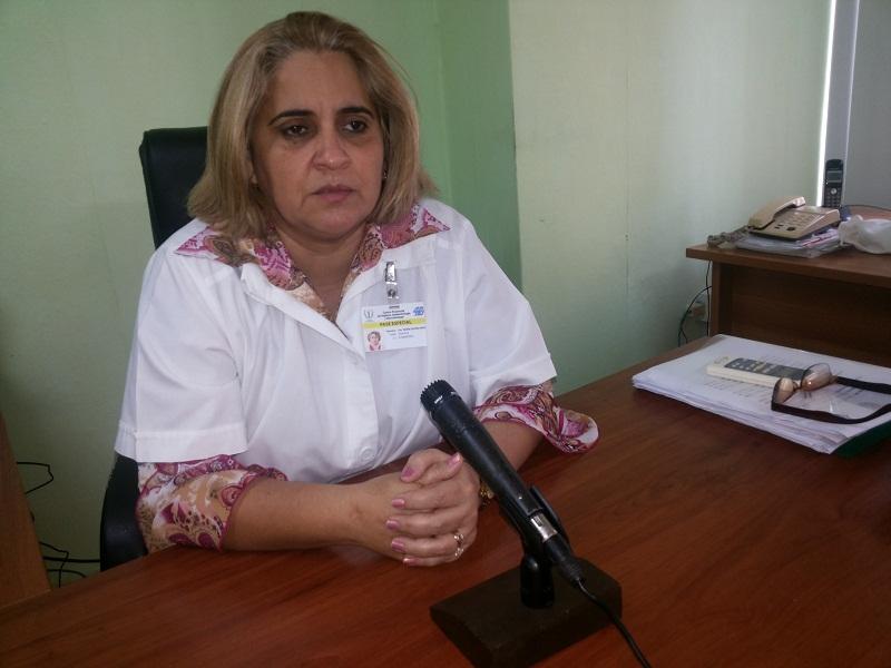 Doctora Yadira Olivera Nodarse, subdirectora provincial de Salud y directora del centro provincial de Higiene, Epidemiologia y Microbiología. Foto del autor