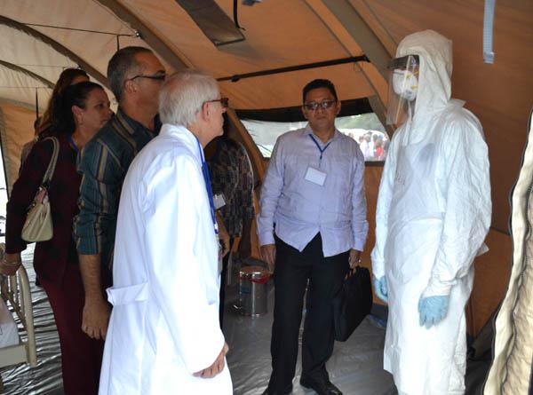 Brigada Médica cubana en su preparación para enfrentar el virus del Ébola