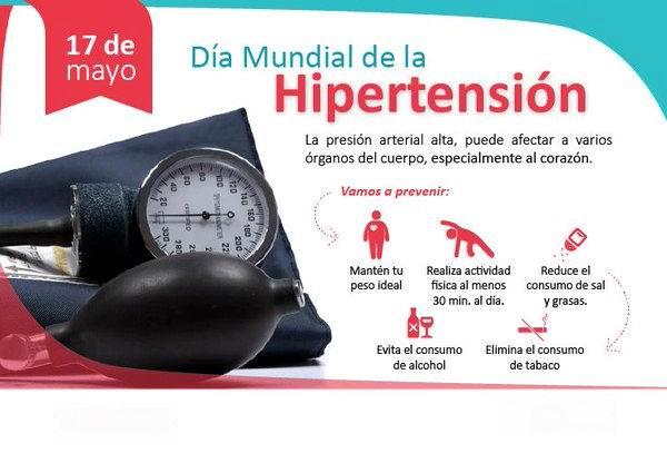 Conmemoran este miércoles Día Mundial de la Hipertensión