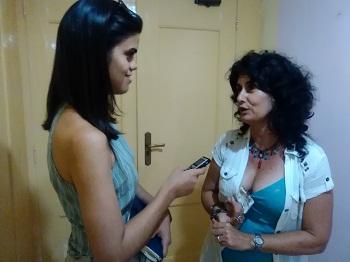 Dra. C. Patricia Pérez Ramos durante la entrevista