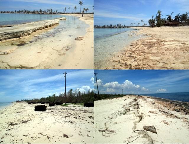 Efectos del huracán Irma sobre la duna en costas de la provincia de Camagüey. Foto del CITMA.