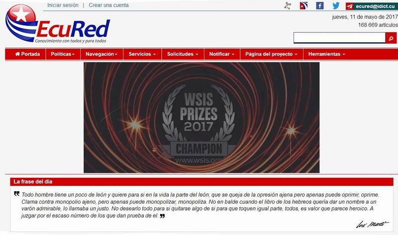 Ecured. Cuban Telecommunication Projects win International Prizes