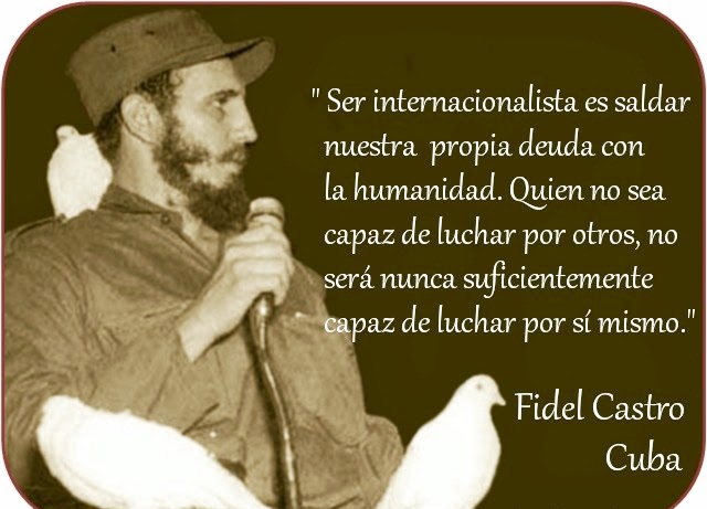 Los médicos cubanos rinden homenaje a Fidel