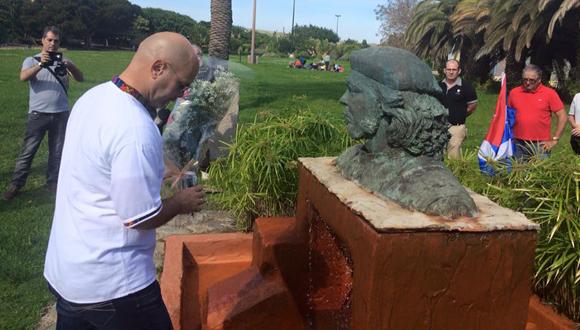 Gerardo Hernández rinde homenaje al Che en Gran Canaria