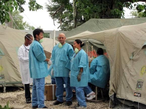 Contingente médico Henry Reeve propuesto al Premio Nobel de la Paz . Foto: Liurka Rodríguez