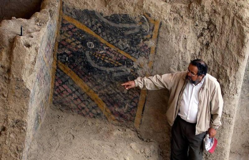 Mural de más de 4.000 años destruido por un incendio en Perú