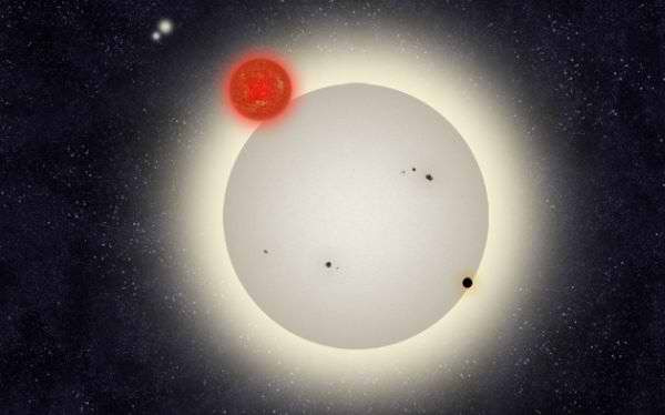 Descubren astrónomos estadounidenses un planeta con cuatro estrellas