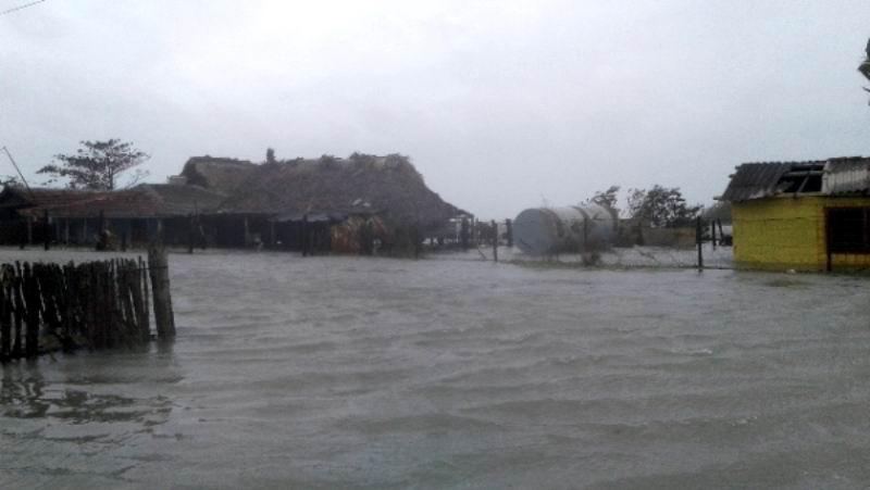 Inundación costera en Playa Florida el 9 septiembre 2017.