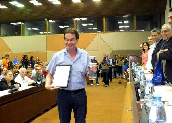 Informática 2013 también fue propicio para las premiaciones en diversas categorías. Foto Abel Rojas