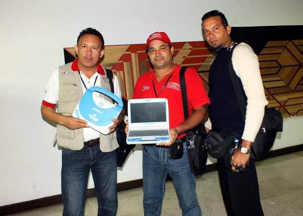 Creadores del proyecto educacional Canaima Educativo participaron en la Convención y Feria Internacional Informática 2013, Habana, Cuba, Foto: Abel Rojas.