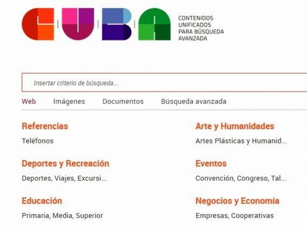 Contenidos Unificados para Búsqueda Avanzada, o CUBA