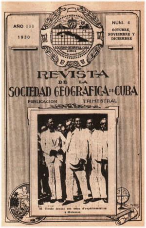 Revista de la Sociedad Geográfica de Cuba referenció el hecho. Foto José Miguel Solís