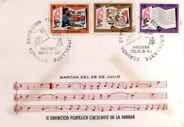 materiales postales o filatélicos que tienen como eje central el Asalto al Cuartel Moncada
