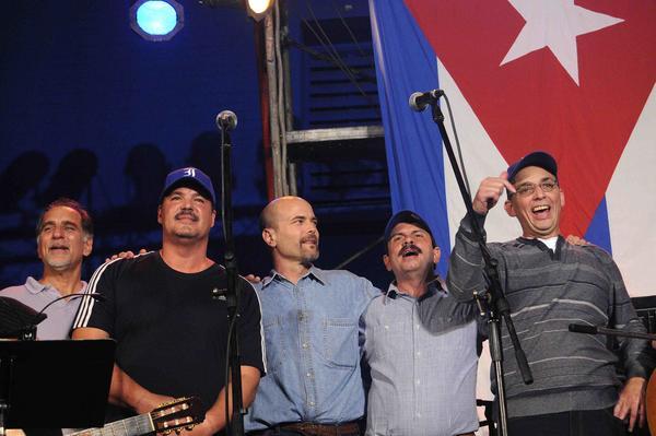 Los Cinco en el concierto de Silvio Rodríguez