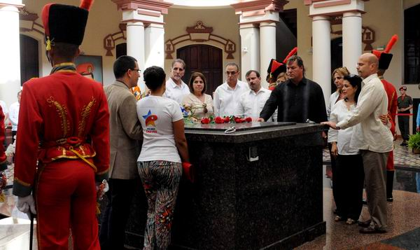 Cinco H�roes rindieron honores a Hugo Ch�vez (+Audio)