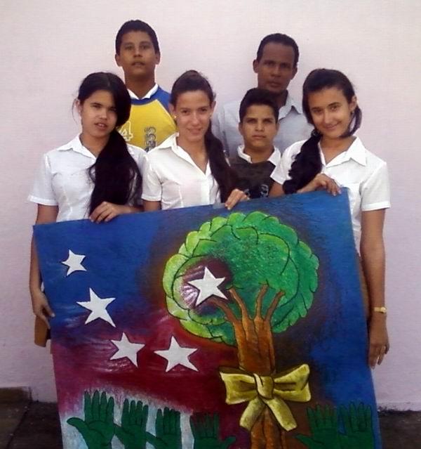 De vuelta a casa, pintura dedicada a los antiterroristas cubanos.