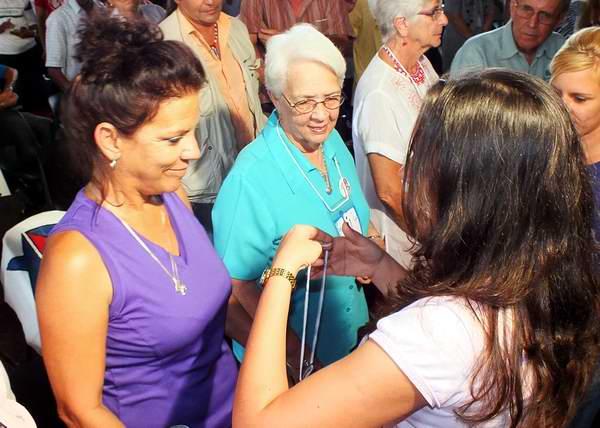 Los Cinco, delegados de honor al congreso de los universitarios cubanos