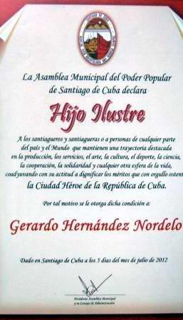 Los Cinco Héroes en el corazón de Santiago de Cuba