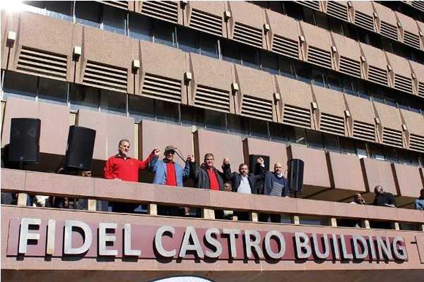 Los Cinco develan tarja del edificio Fidel Castro en Sudáfrica (+Fotos)