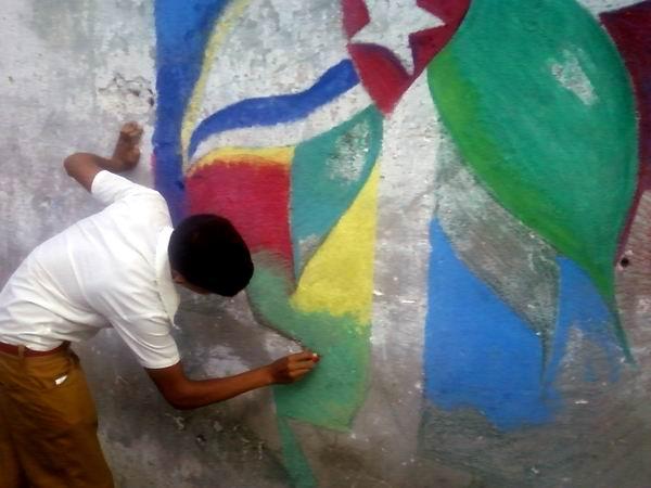 Mural Fin a la injusticia dedicado a los antiterroristas cubanos.