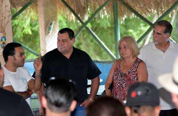 Intercambia René González con el Consejo Nacional de la AHS. Foto: Osvaldo Gutiérrez