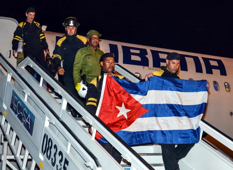 Cuban Search and Rescue Team Returns to Cuba from Ecuador