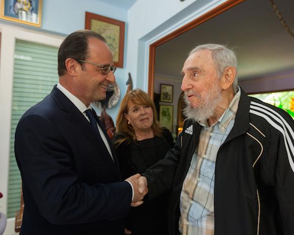 Presidente franc�s visit� a Fidel Castro (+Fotos)
