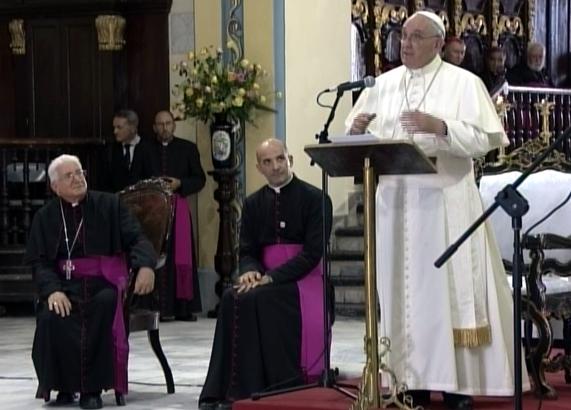 El Papa Francisco transmitió hoy en Santiago de Cuba un mensaje de agradecimiento a las familias cubanas