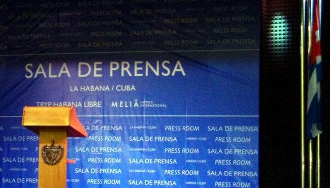 En el Salón de los Embajadores del Hotel Habana Libre, se inaugurará la sala de prensa  de la VII Cumbre de la AEC. Foto: Sitio MINREX