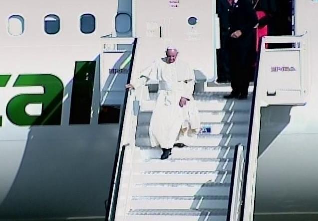 Holguín recibió al Papa Francisco