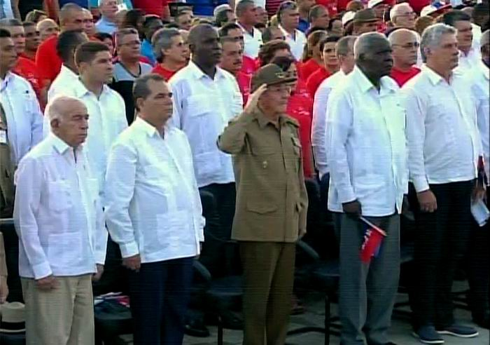 Raul Castro presides over main rally to mark Day of National Rebelliousness