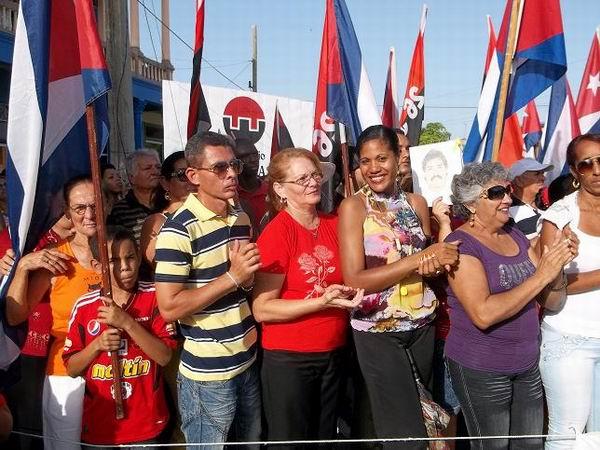 Acto por el 26 de Julio en Antilla, Holguín. Foto Aroldo García