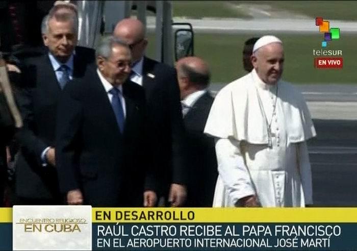 En Cuba Papa Francisco para encuentro con el Patriarca Kirill