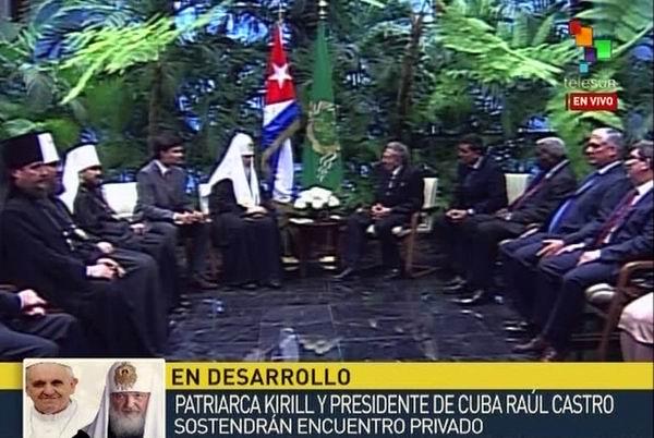 Presidente Raúl Castro se reúne con el Patriarca Kirill