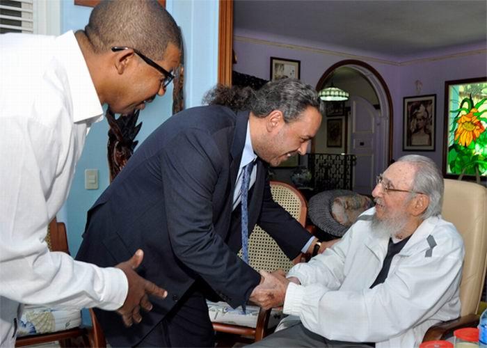Recibi� Fidel Castro a su Alteza Real Pr�ncipe Ahmad Al-Fahad Al-Sabah (+Fotos)