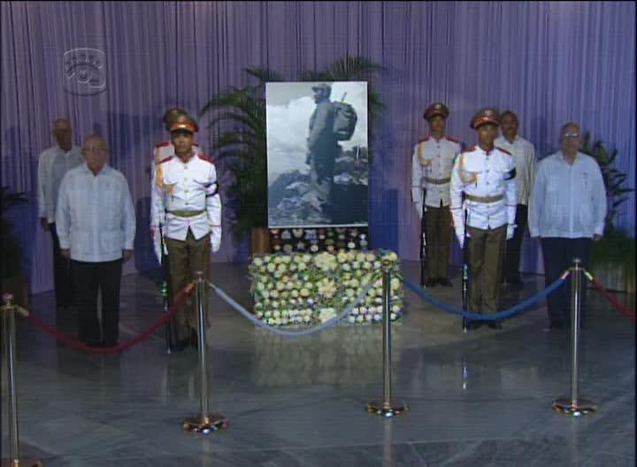 Última guardia de honor al líder de la Revolución, Fidel Castro