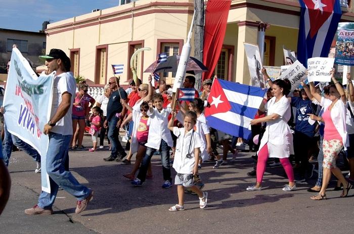 La fortaleza de un Primero de Mayo en Matanzas