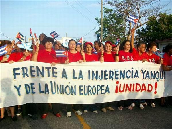 Desfile del 1ro. de Mayo en Matanzas (Foto Corresponsal Rebelde)