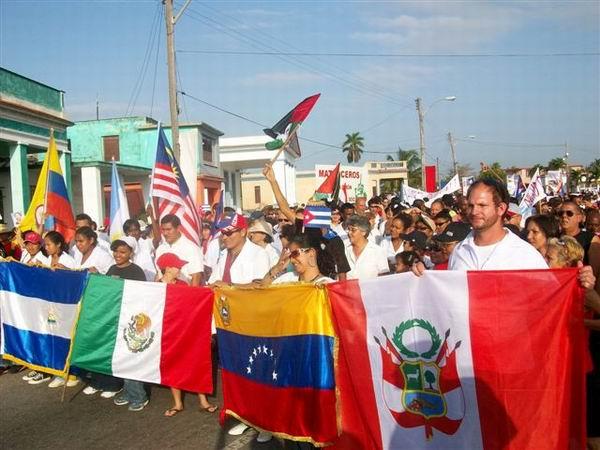Desfile por el 1ro. de Mayo en Matanzas (Foto Corresponsal Rebelde)